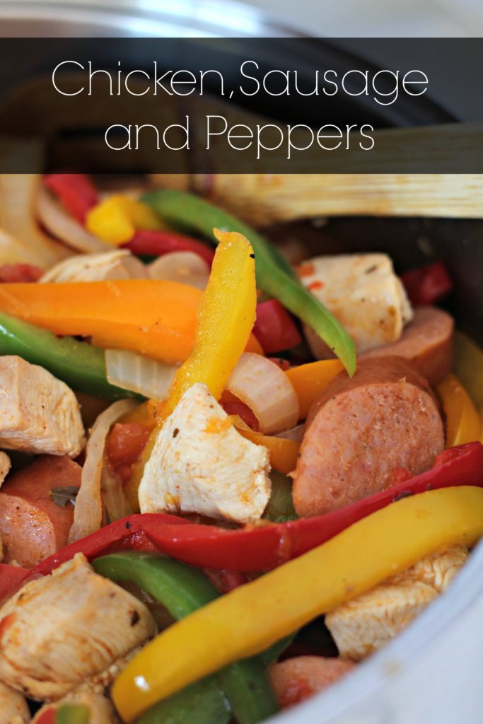 Fresh peppers, sausage and chicken. This recipe is spiced up and packs a ton of flavor!