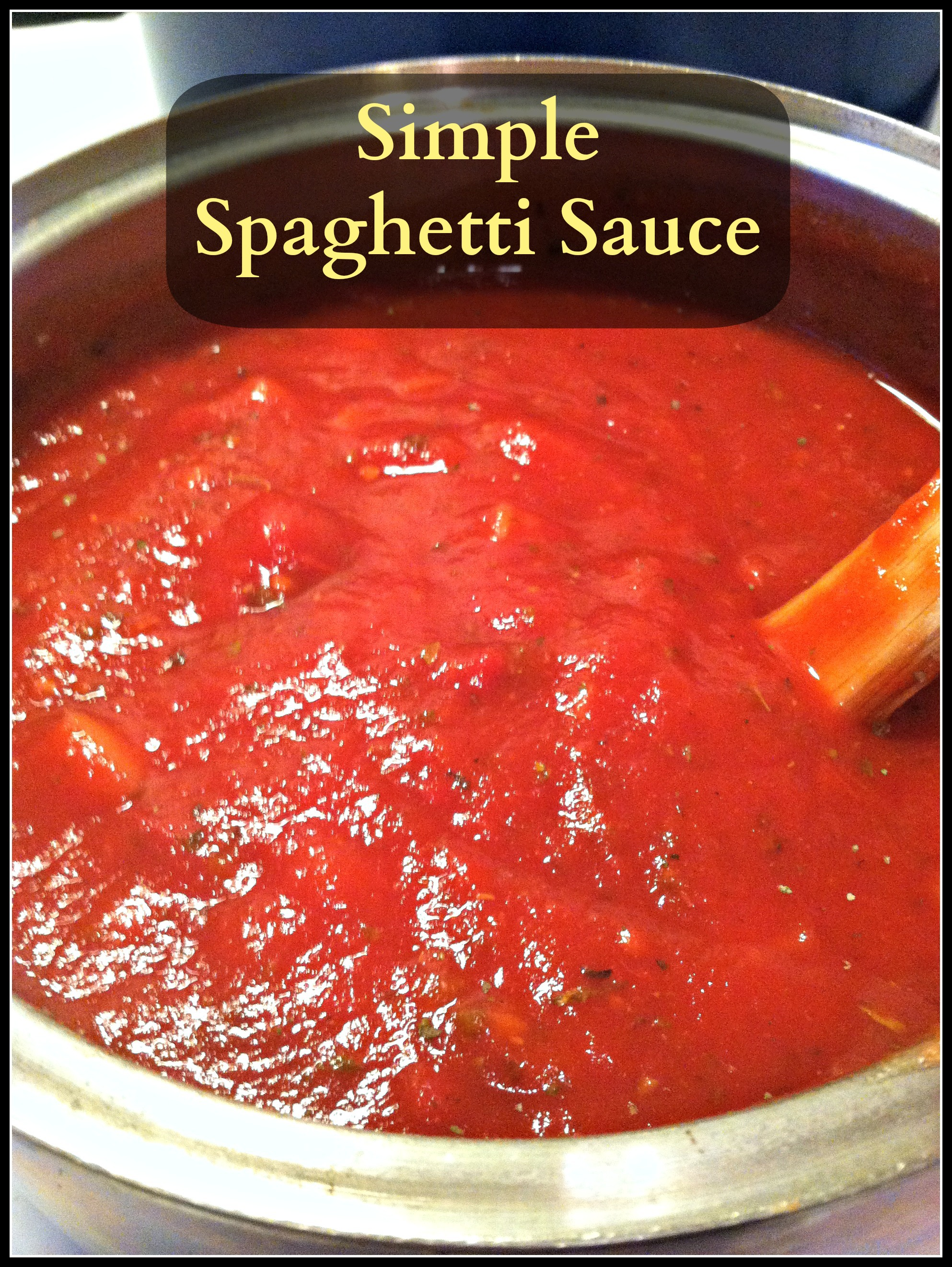 ... spaghetti sauce recipe i make when i m looking for something quick and