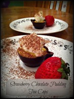 Strawberry Chocolate Pudding Tea Cups