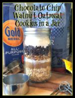 Chocolate Chip Walnut Oatmeal Cookies in a Jar