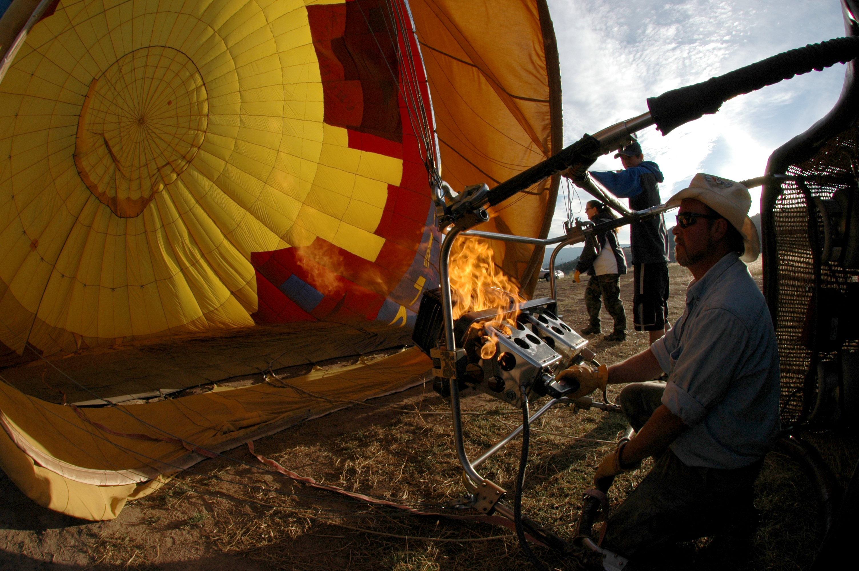 how to make a hot air balloon without fire