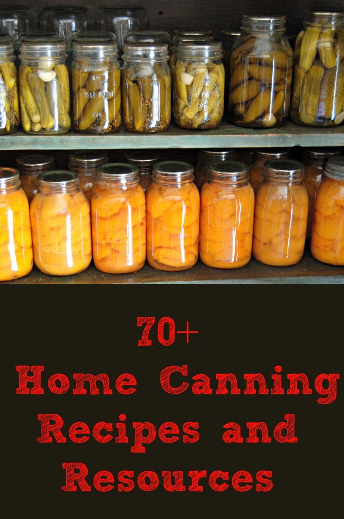 70+ Home Canning Recipes and Resources