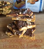 Chocolate Coated Holiday Nut Brittle Recipe