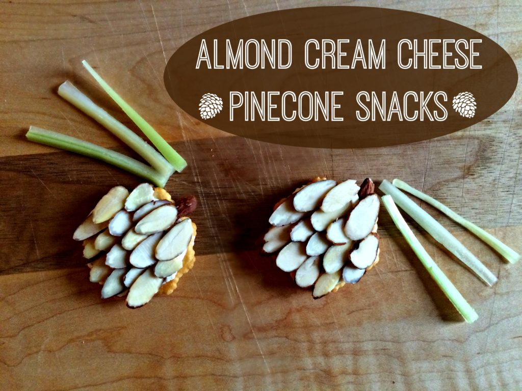 Almond Cream Cheese Pinecone Snacks
