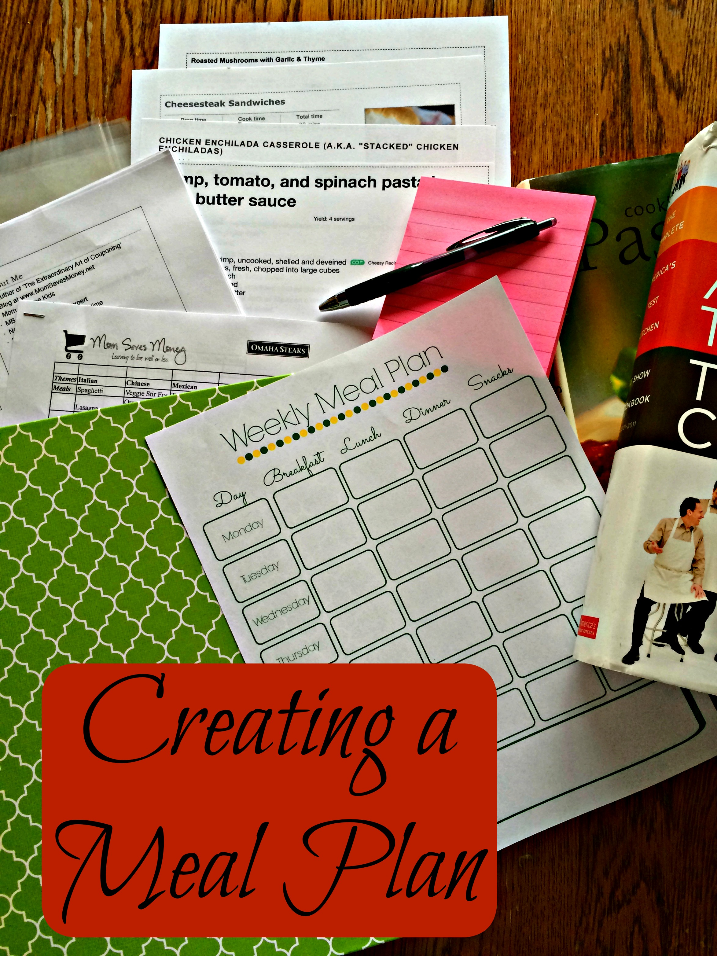 Making Life Easier: Creating a Meal Plan