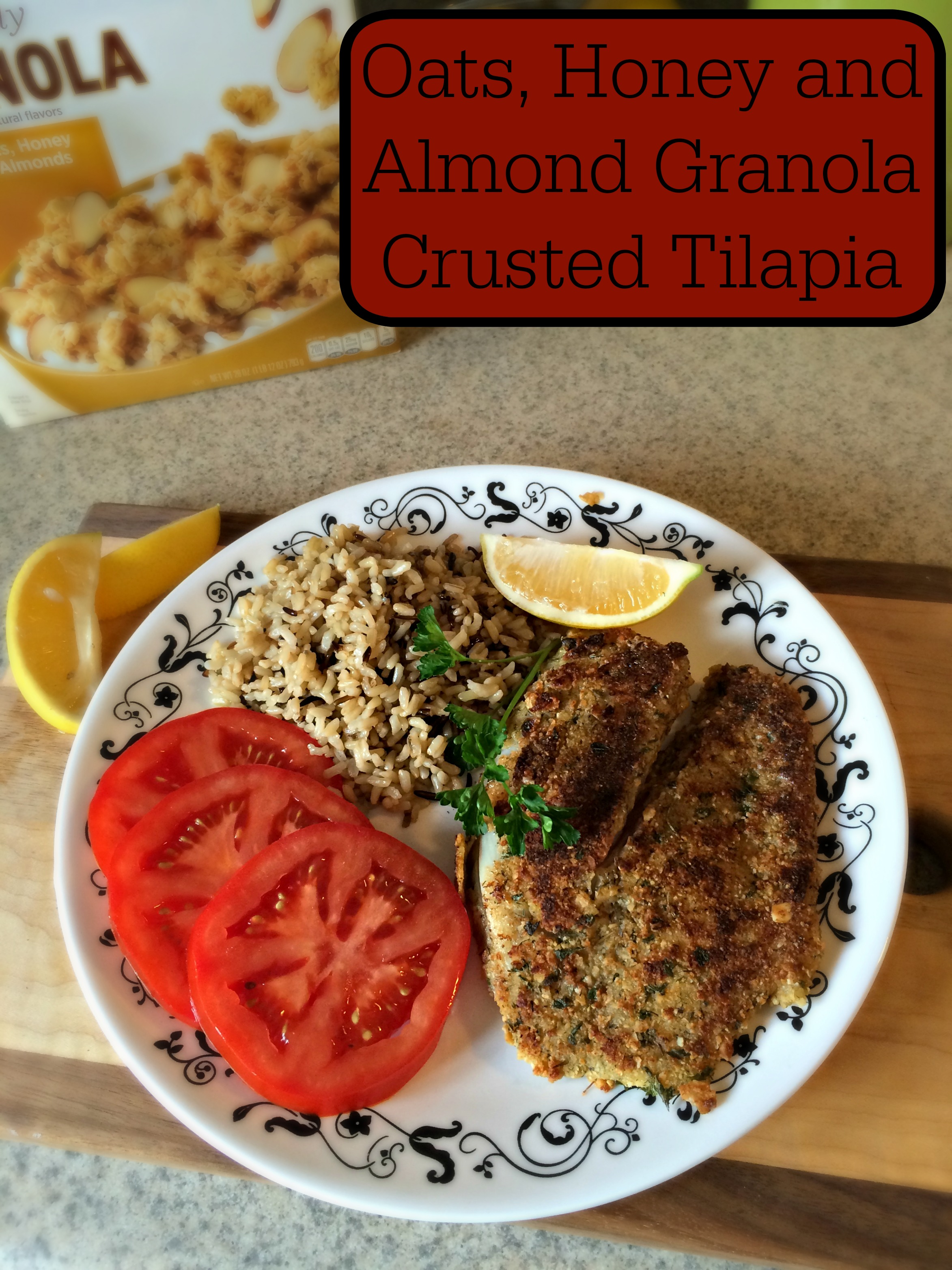Oats, Honey, and Almond Granola Crusted Tilapia Recipe