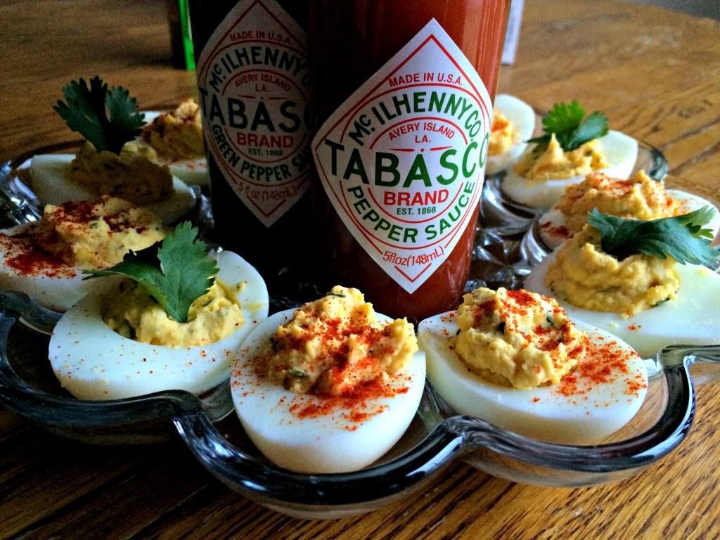 Tabasco Cilantro Eggs