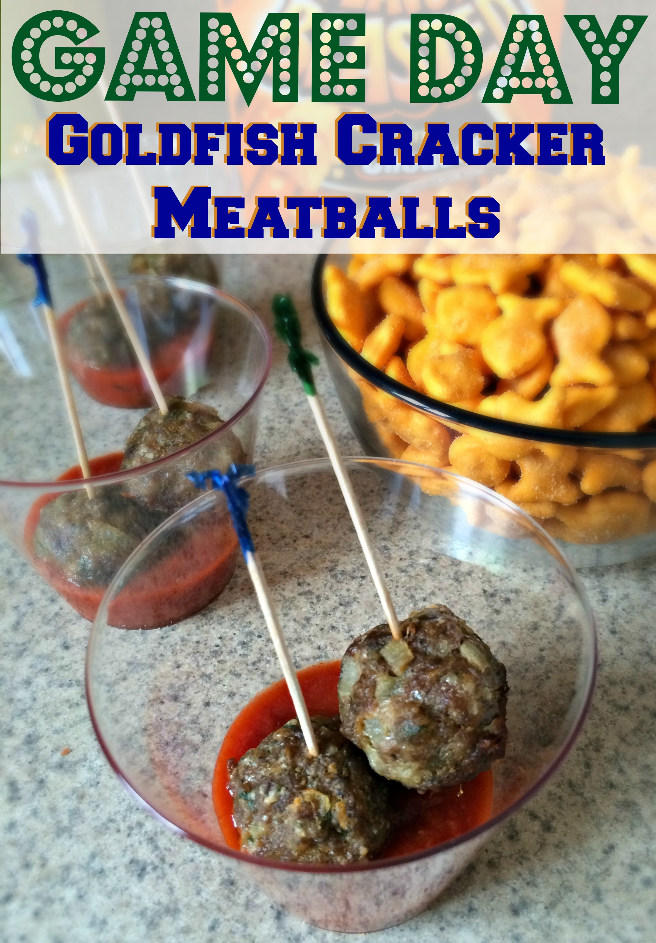 Game Day Goldfish cracker Meatball Recipe