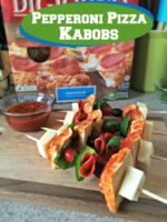 Game Day Pepperoni Pizza Kabobs