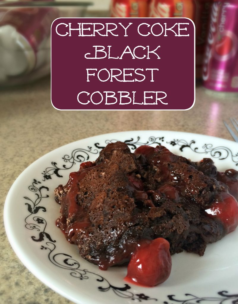 Cherry Coke Black Forest Cobbler Recipe #ad #FinalFourPack