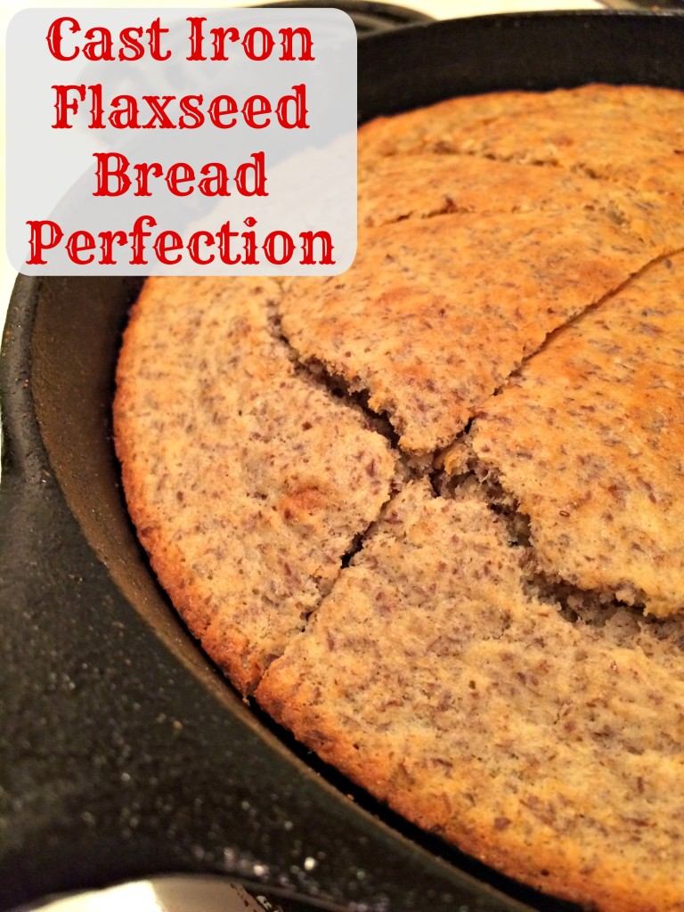Cast Iron Flaxseed Bread