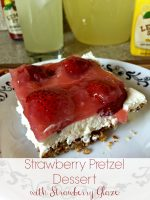 Celebrating Spring with Lemonade and Strawberry Pretzel Dessert (Recipe)