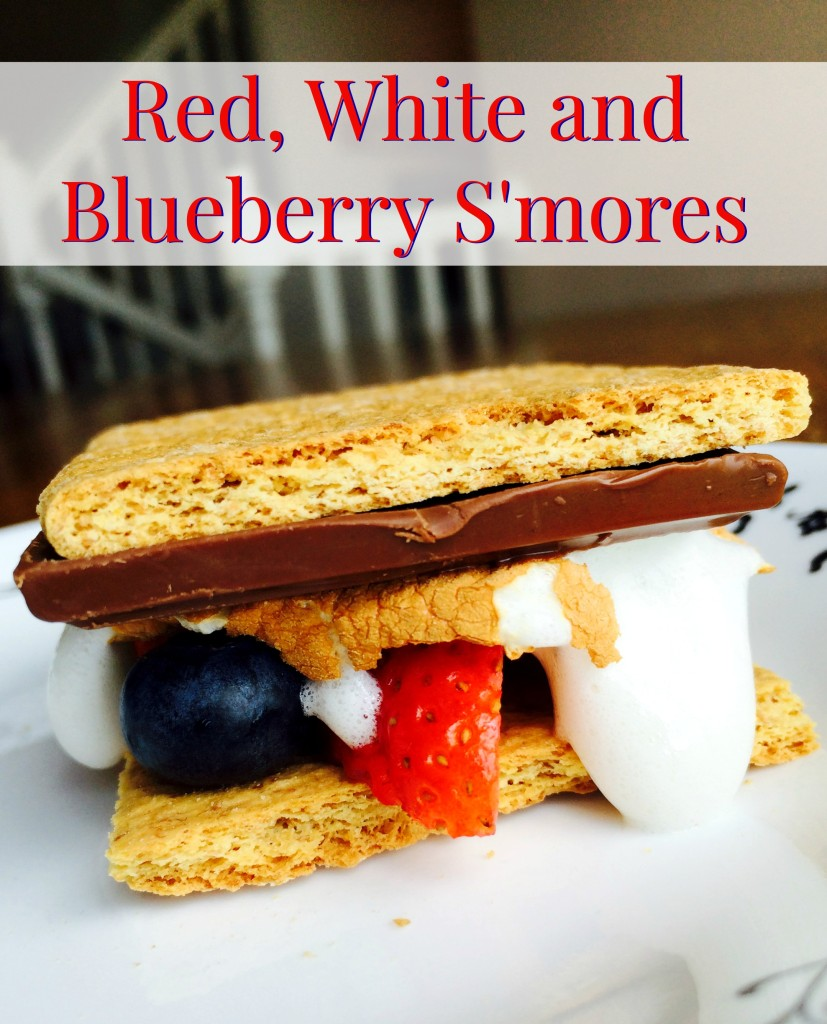 Red White and Blueberry S'mores. Fun twist on a classic. Perfect for grill outs, camping, patriotic parties or just because!