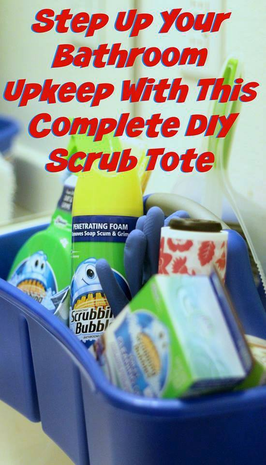Step Up Your Bathroom Upkeep with this Complete DIY Scrub Tote