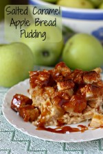 Salted Caramel Apple Bread Pudding Recipe