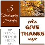 Three Thanksgiving Printables