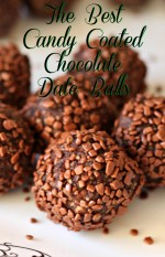 The Best Candy Coated Chocolate Date Balls