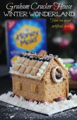 Graham Cracker House Winter Wonderland