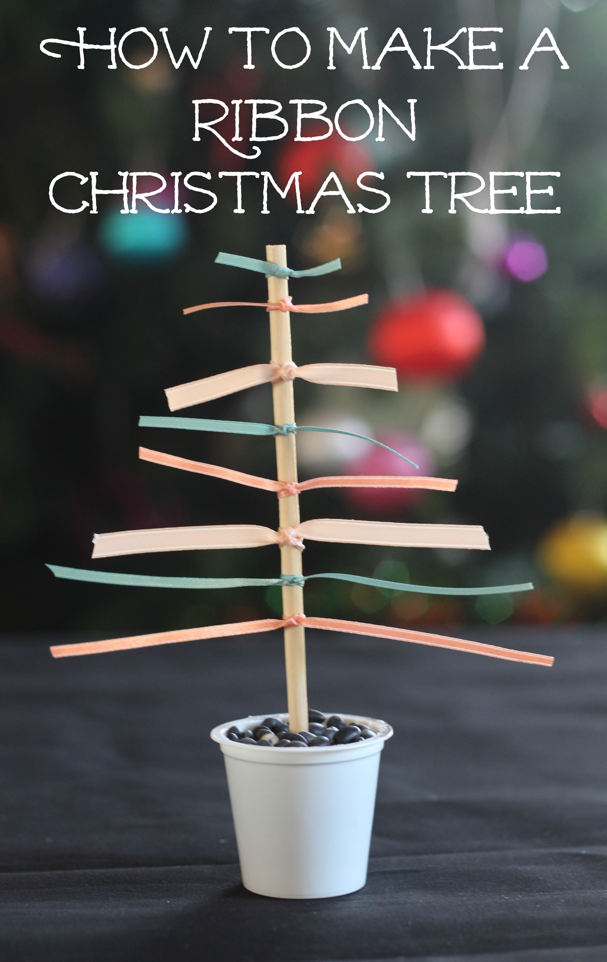 How to Make a Ribbon Christmas Tree