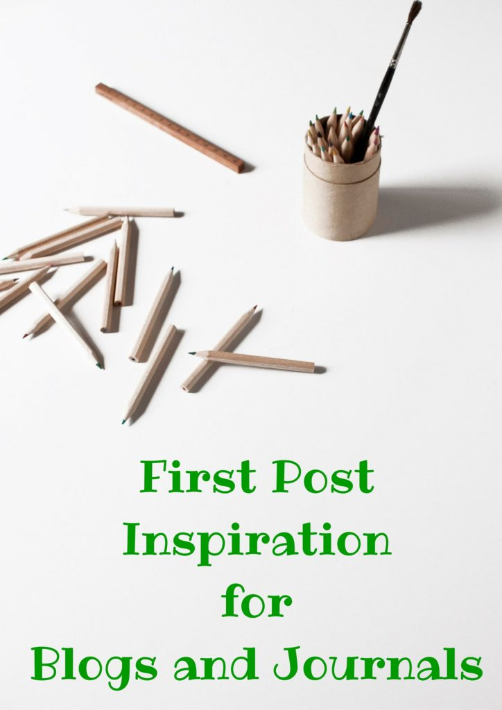 A collection of ideas for what to write on your first blog post or a blank journal.