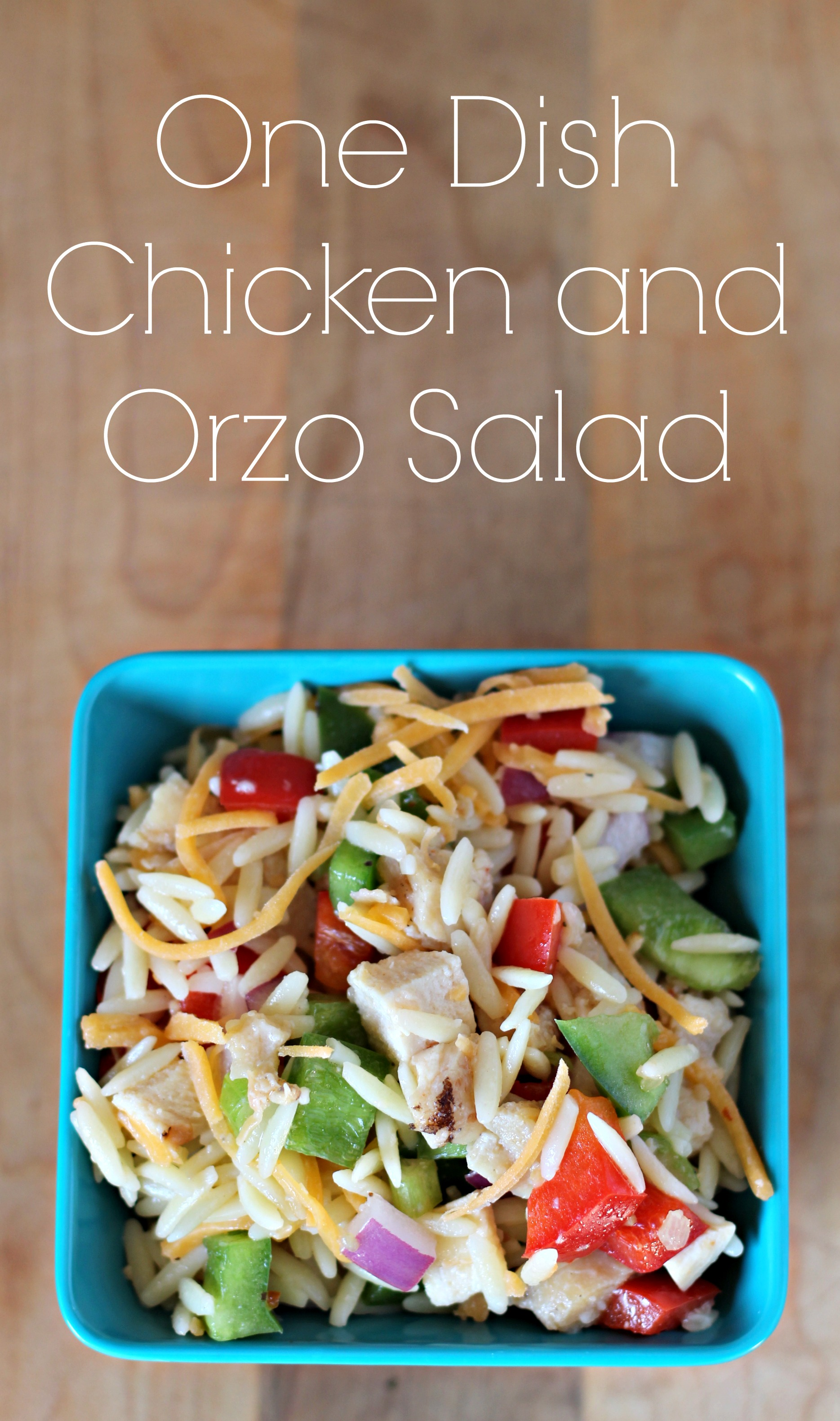 [ad] One Dish Chicken and Orzo Salad
