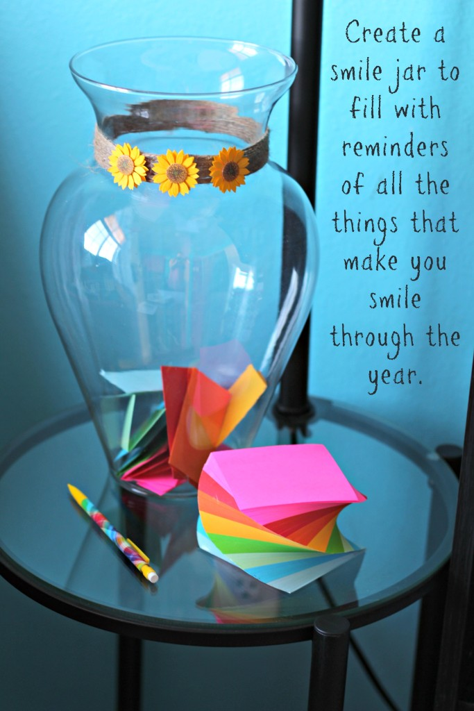 Keep track of your positive memories with this easy to create jar.