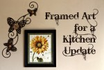 Framed Art for a Kitchen Update