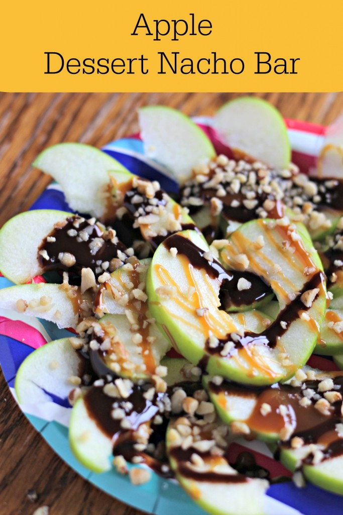 Turn Your Apples Into A Fun Dessert Nacho Bar. Use The Basic Toppings Of  Caramel