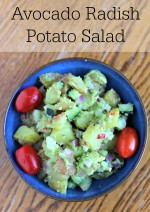 Avocado Radish Potato Salad