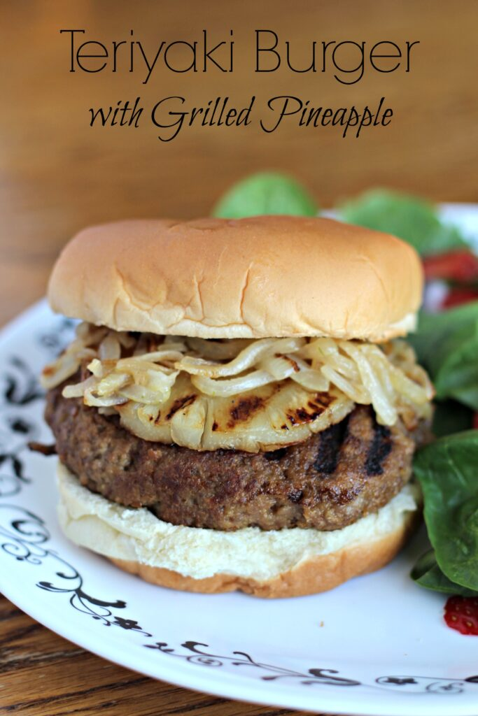 Teriyaki Burger with Grilled Pineapple
