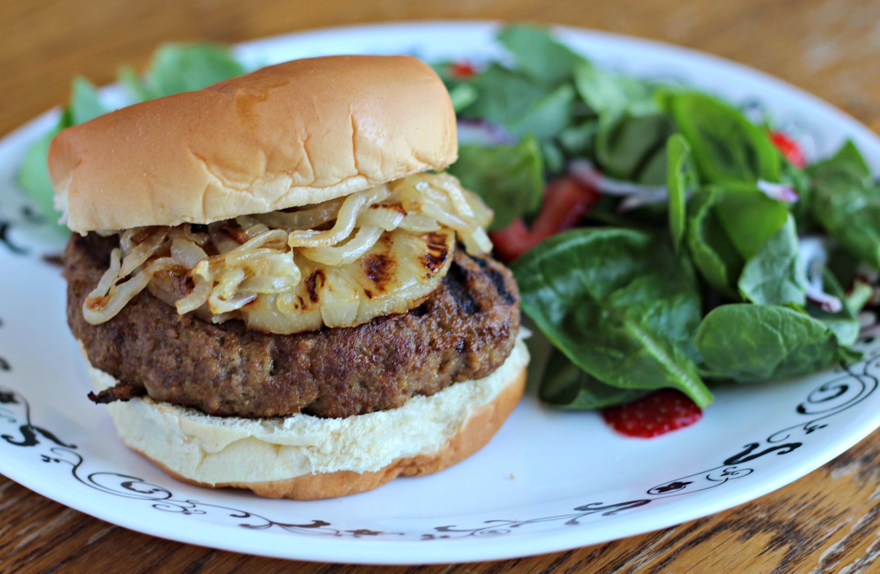 Teriyaki Burgers with Grilled Pineapples