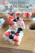 Fresh Berry and White Chocolate Shortcake Bark