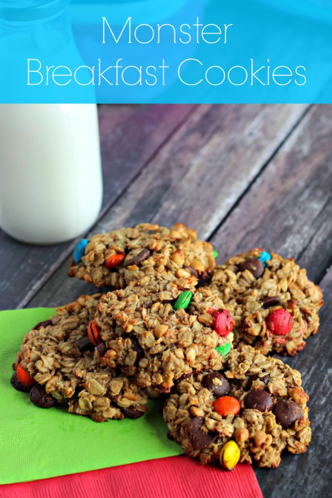 Monster Breakfast Cookies recipe. Perfect grab-n-go breakfast for back to school. ad