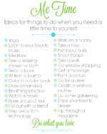 Me Time Printable: Do What You Love