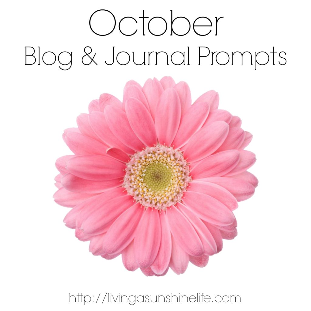 October Blog and Journal Prompts