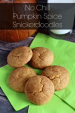 No Chill Pumpkin Spice Snickerdoodles
