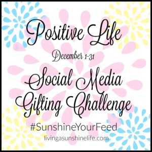 December #SunshineYourFeed Social Media Gifting Challenge