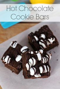 Hot Chocolate Cookie Bars