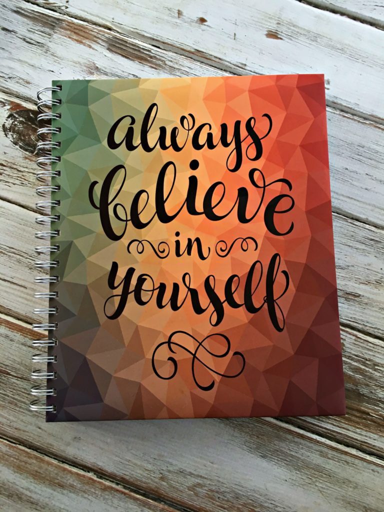 Always Believe in Yourself yearly, daily, monthly, weekly planner with goal setting. Perfect to start the new year! Check out this review to see if it's right for you. #ad