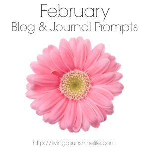 February Blog and Journal Prompts