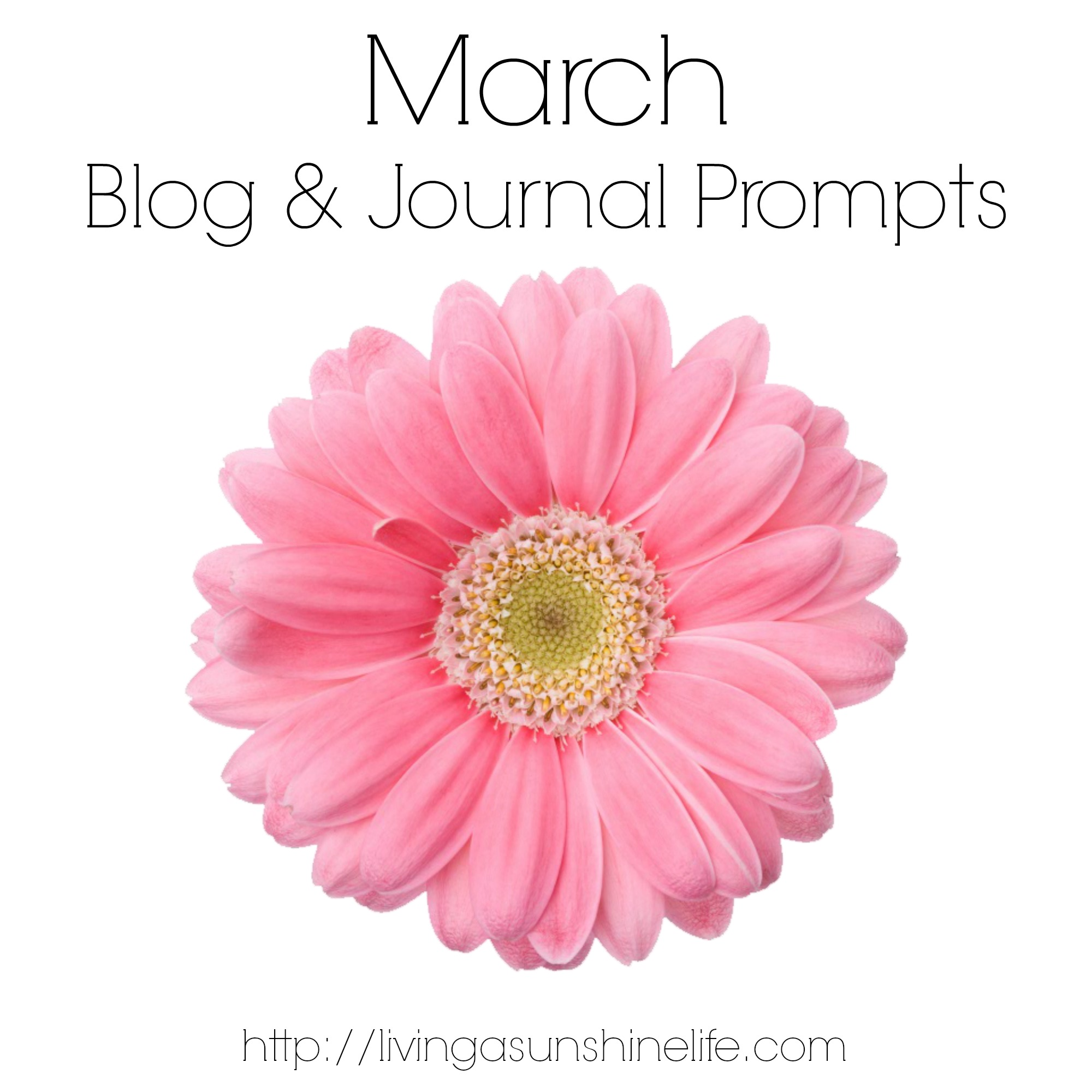 March Blog and Journal Prompts