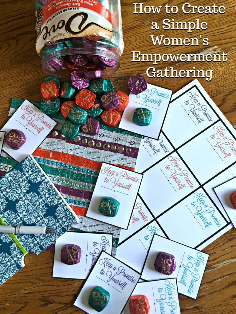 Create a fun and simple Women's Empowerment Gathering for your friends! It doesn't have to take a lot of effort to lift up the women in your life. #ad #WhatMakesDove