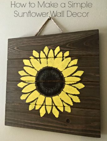 How to Make a Simple Sunflower Wall Decor