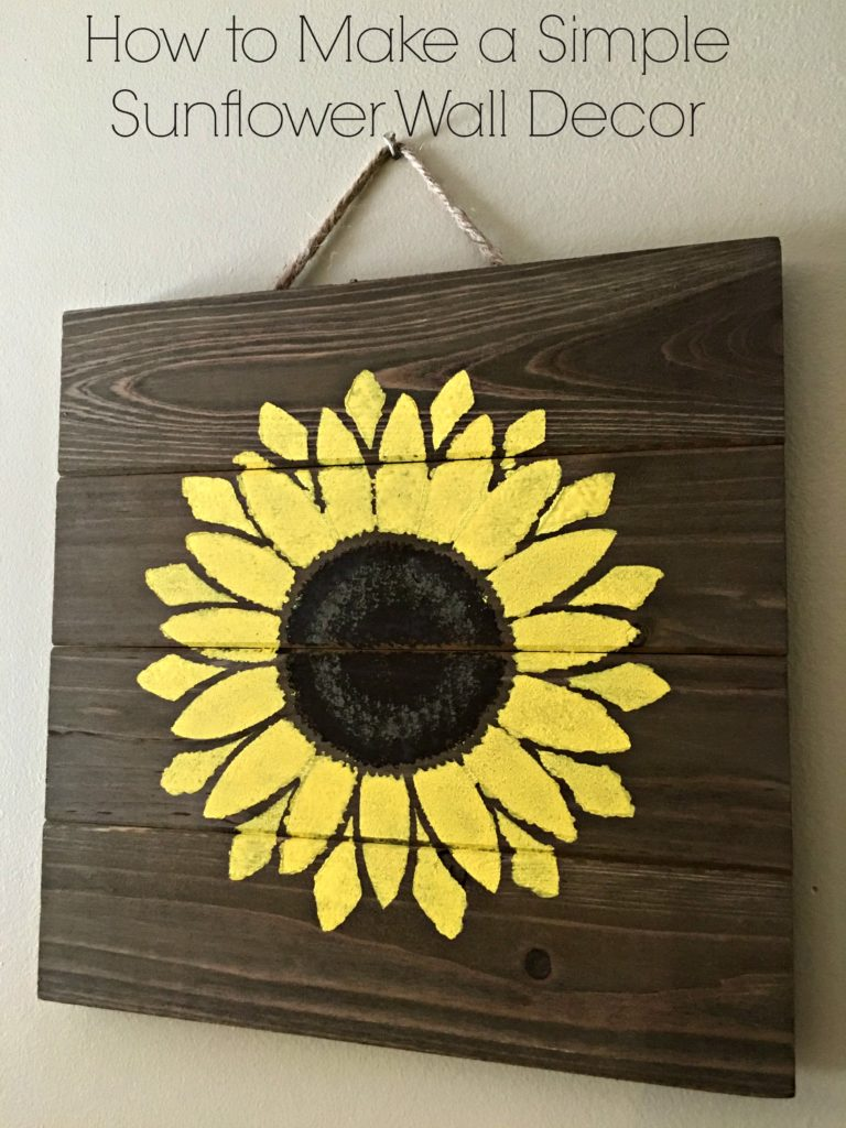 How to Make a Simple Sunflower Wall Decor - Living a Sunshine Life