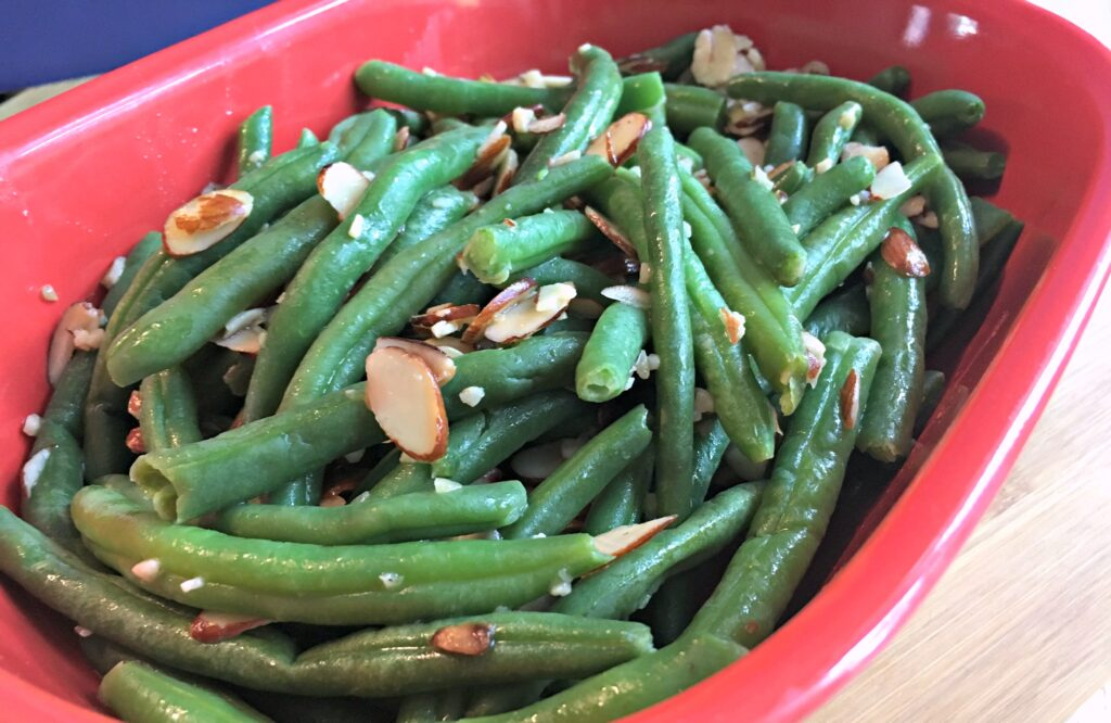 Green bean almondine is a simple, traditional side dish that pairs well with a wide variety of meals.