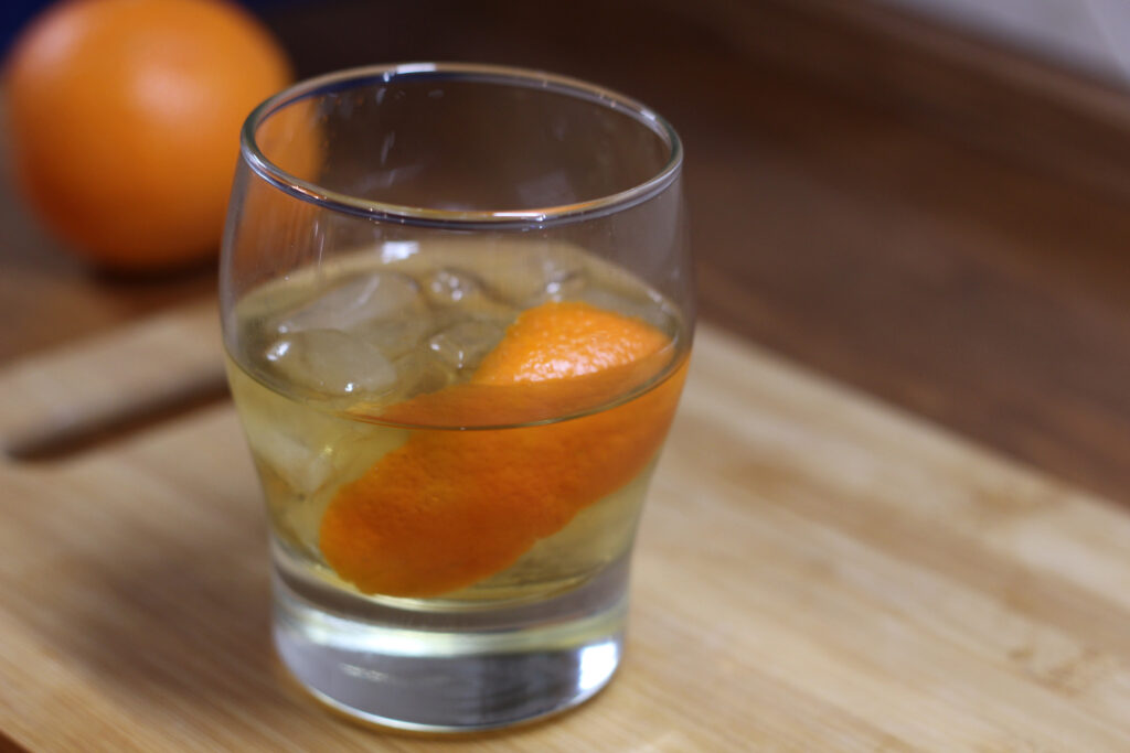 A low carb version of a Whiskey Old Fashioned, also known as the original whiskey cocktail.
